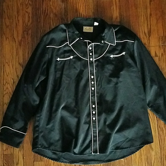 Scully black vintage western shirt. M_5ae8e8aaa44dbeda3fed6a43